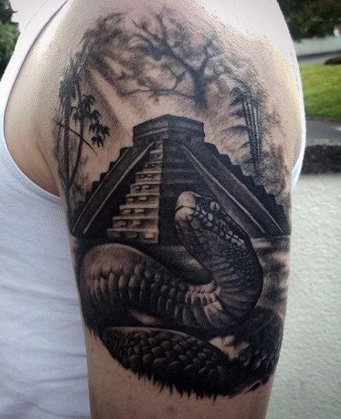 488x600 70 Snake Tattoos For Men