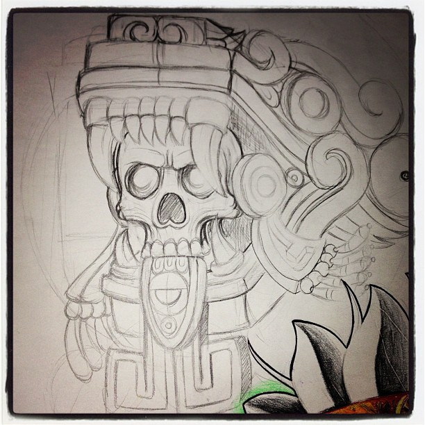 612x612 A Sketch Of A Tattoo I Started In The Weekend In Hayward