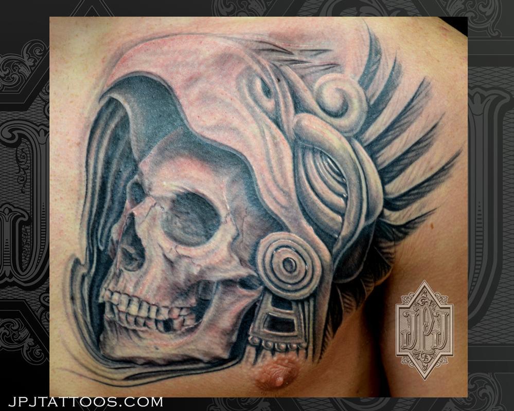 999x800 Aztec Skulls Tattoos