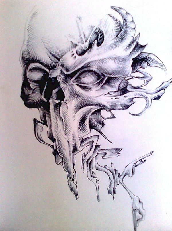 600x807 Skull Graff By Pick1