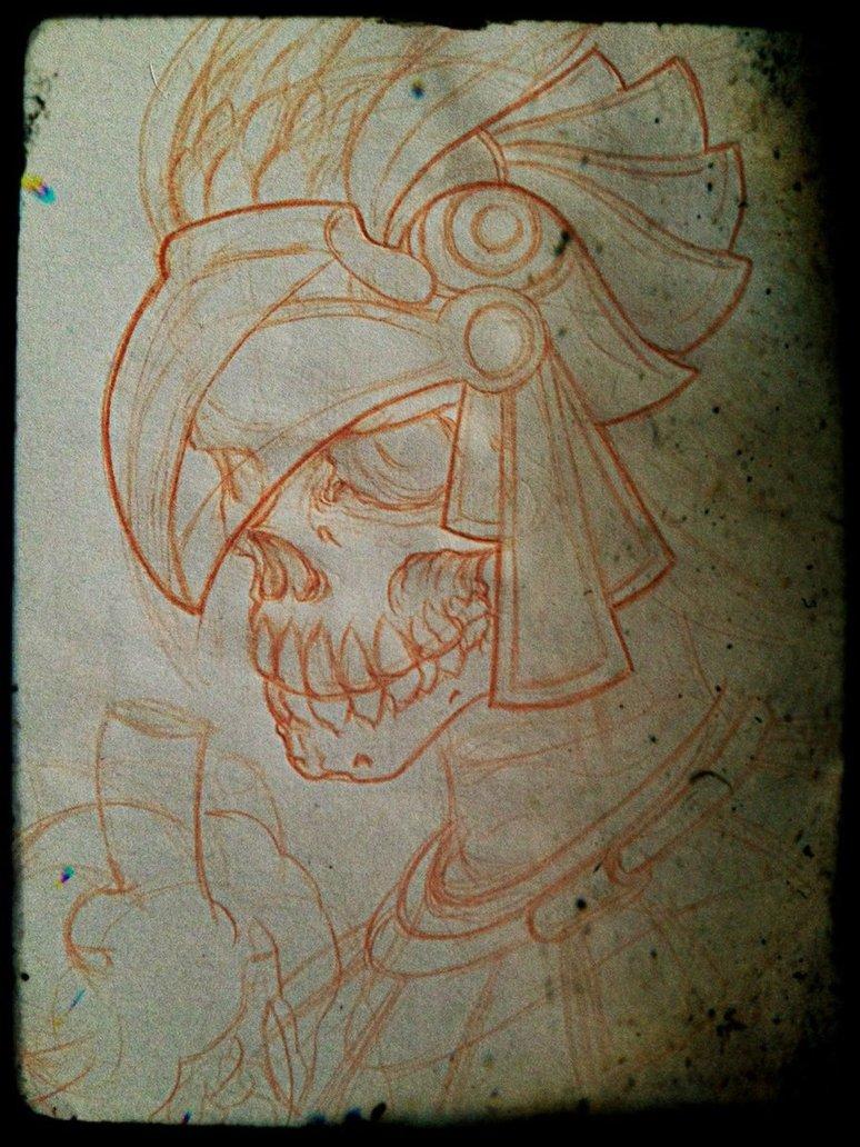 774x1032 Aztec Skull By Utakaice