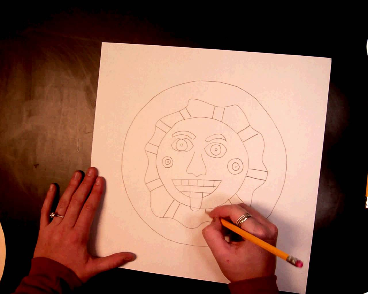 1280x1024 Aztec Sun Drawing (1 Of 4)