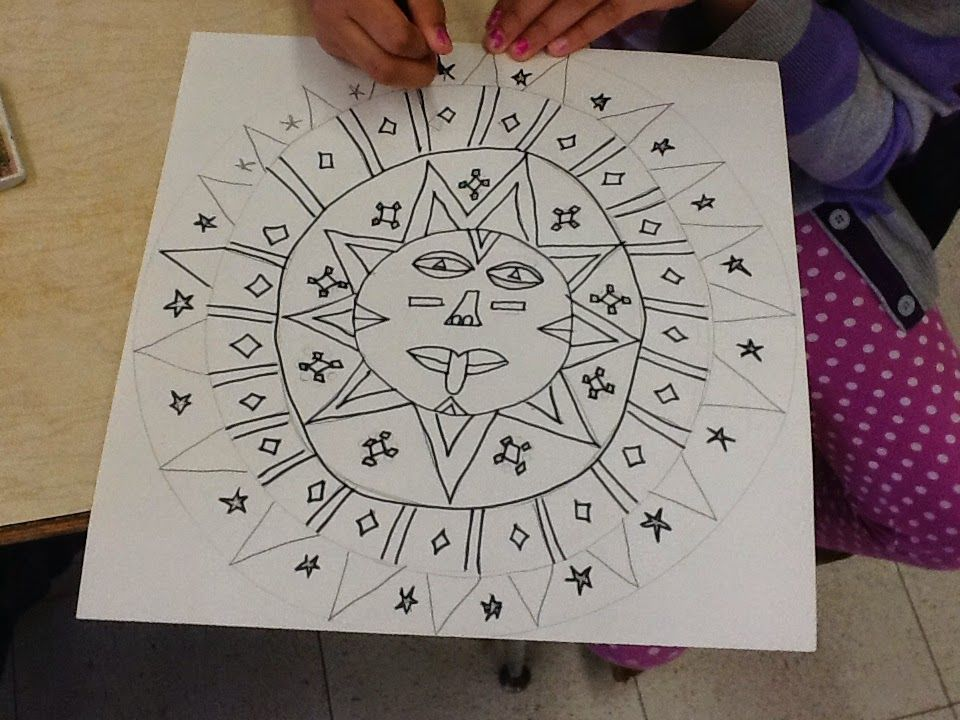 960x720 Art Inklings How To Draw Aztec Sun Stones Historyd Math In