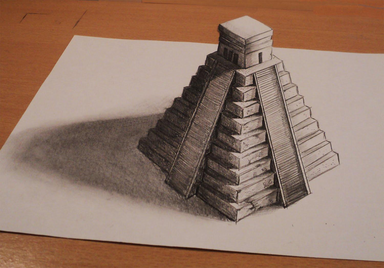 1500x1046 Aztec Pyramid Drawing
