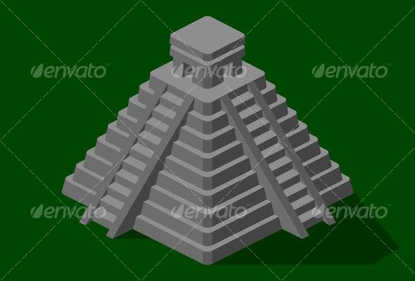 590x400 Aztec Pyramid Drawing