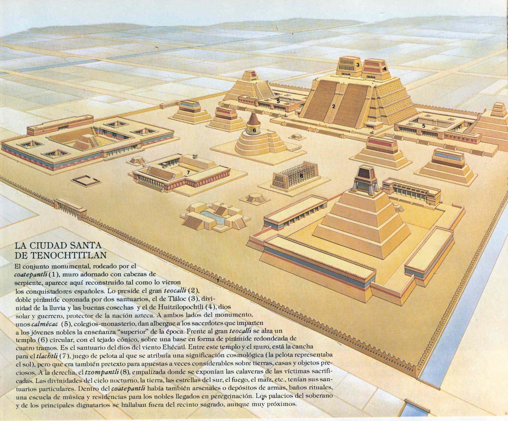1700x1410 De La Ciudad De Tenochtitlan. Grandeza Azteca