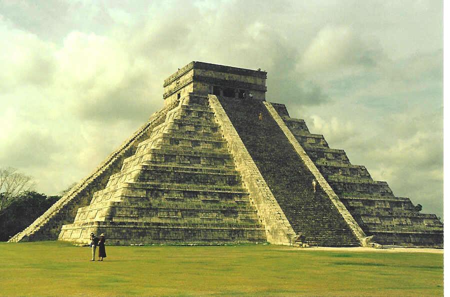 900x595 Drawn Pyramid Mayan Temple