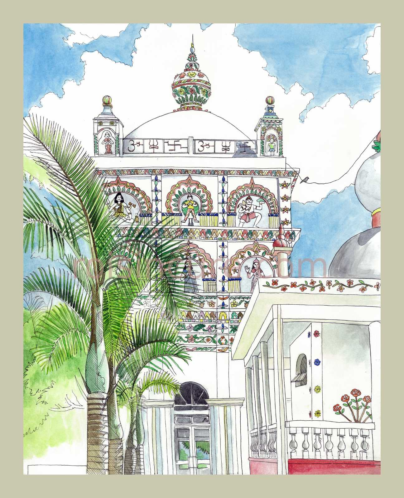 1296x1597 Maheshwarnath Hindu Temple In Triolet, Mauritius