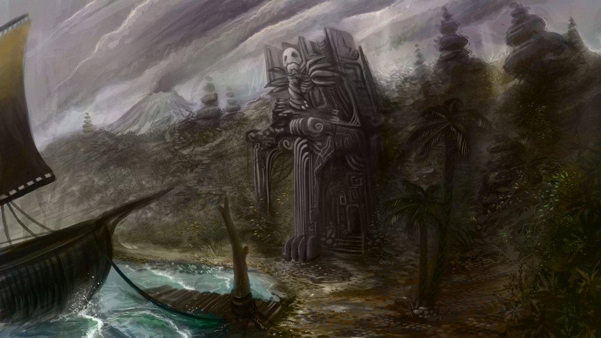 1191x670 Aztec Jungle Coastline (Setting For My Aztec Level) Pillar