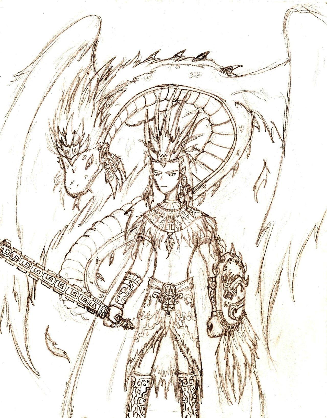 1280x1636 Aztec Warrior Of Quetzalcoatl By Invader Phoebe