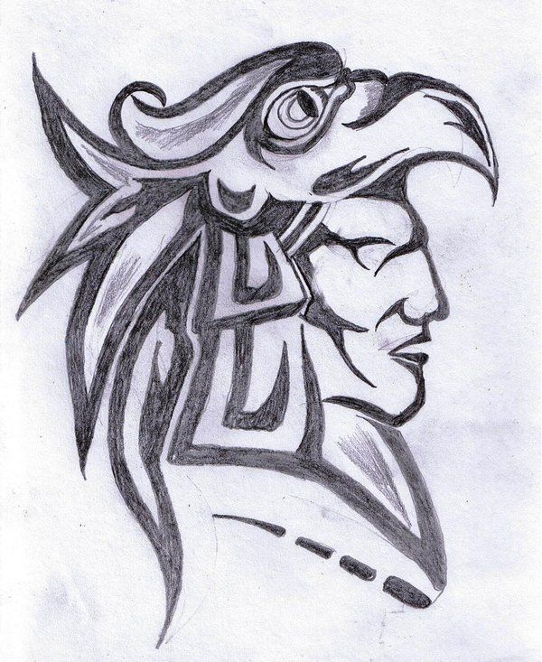 600x733 Pictures Aztec Warrior Drawings,