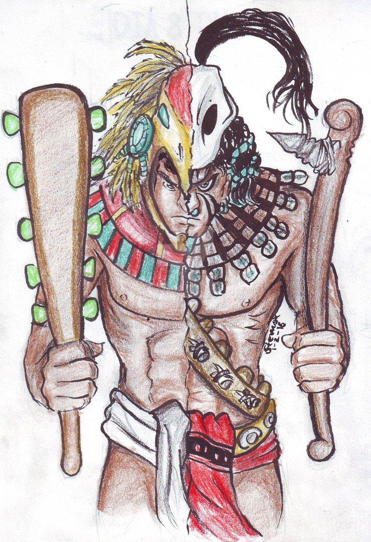 739x1080 Warrior Aztec Vs Warrior Maya 01022016 By Steviox