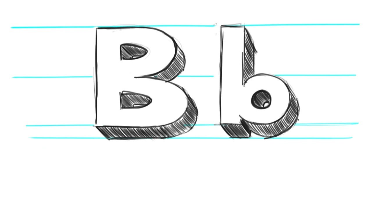 1280x720 How To Draw 3d Letters B