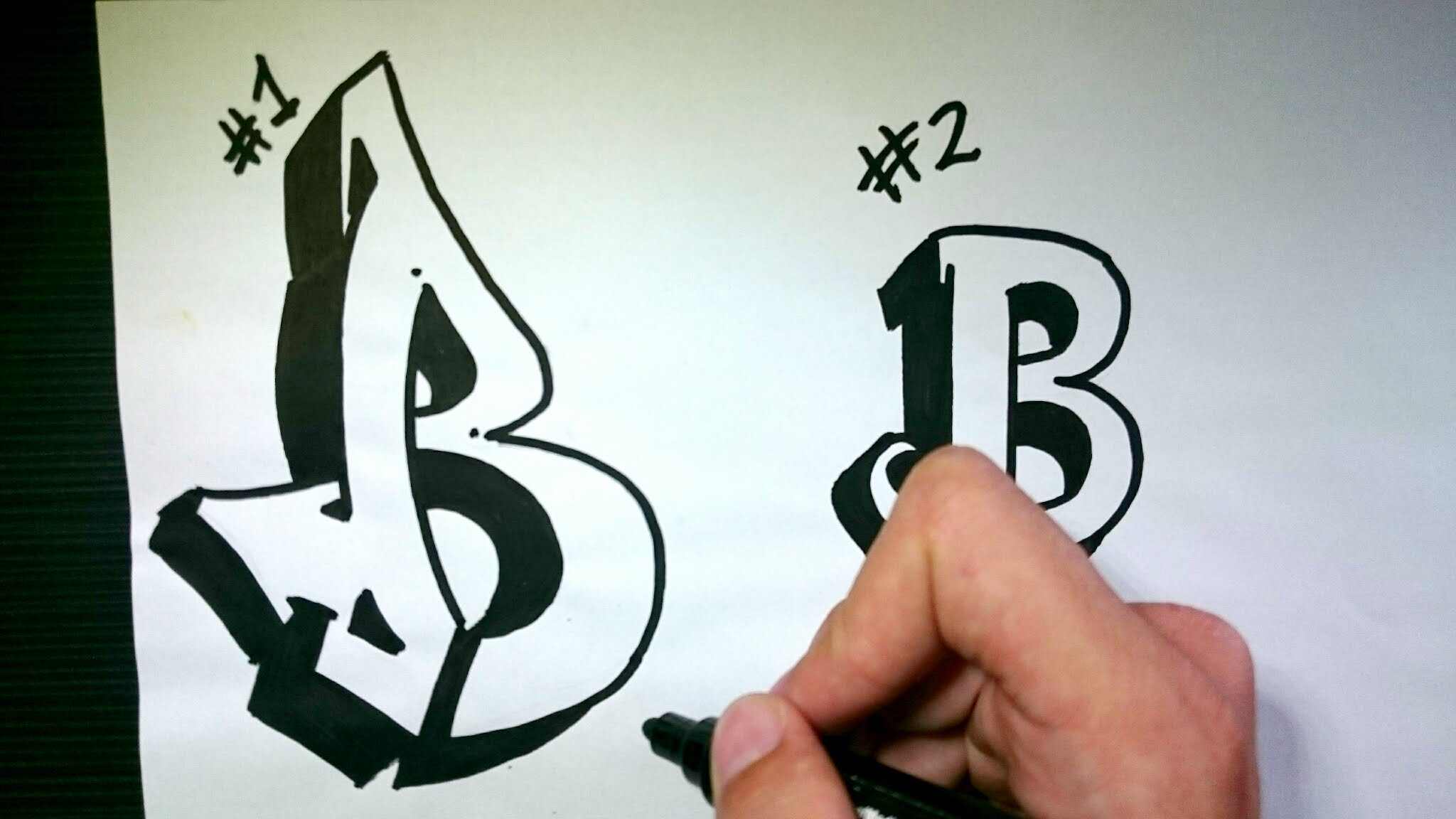 2048x1152 How To Draw Graffiti Letter B On Paper