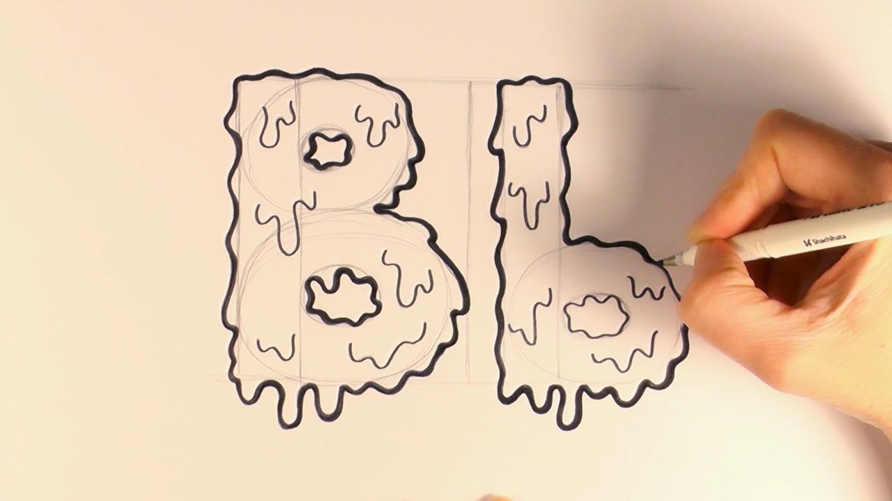 1280x720 How To Draw A Cartoon Halloween Slime Letter B And B