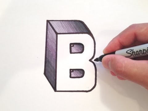 480x360 How To Draw The Letter B In 3d