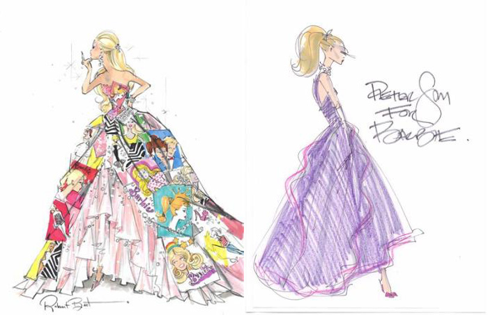 700x453 Barbie Fashion Illustrations For Ny Fashion Show Fashion