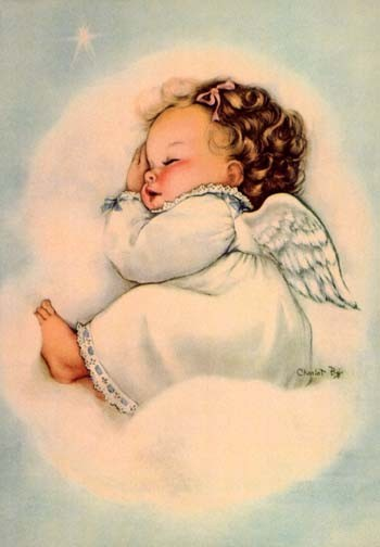 350x504 Adorable Angel Baby Artist Unknown