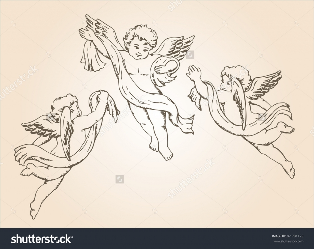 1024x813 Baby Angel Drawings Ba Angel Stock Photos Images Amp Pictures