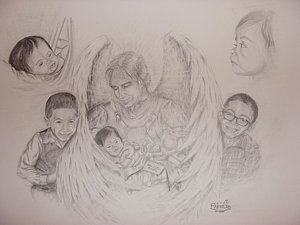 300x225 Baby Angels Drawings
