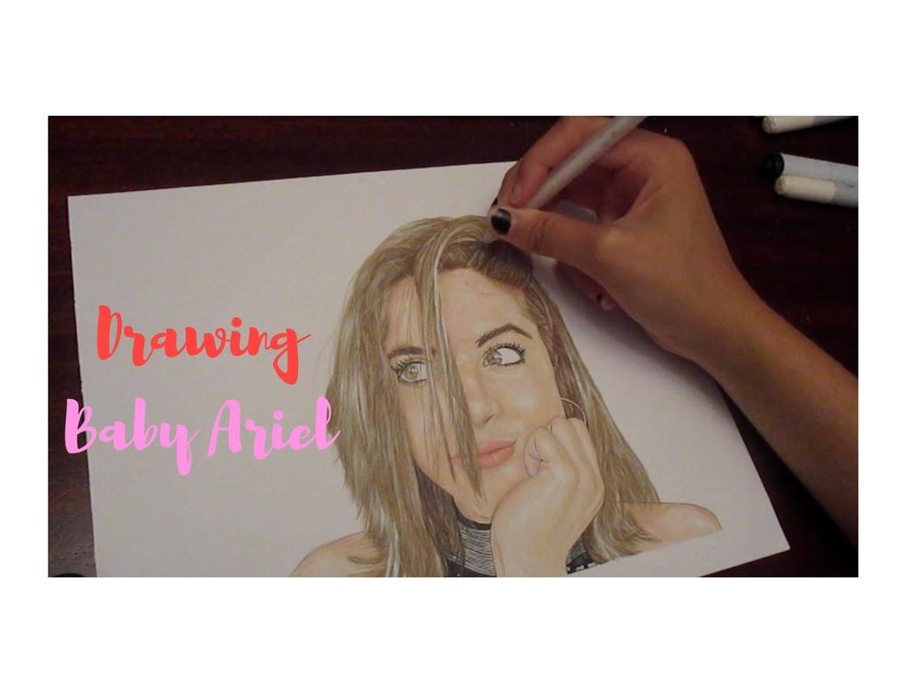 1024x768 Drawing Baby Ariel