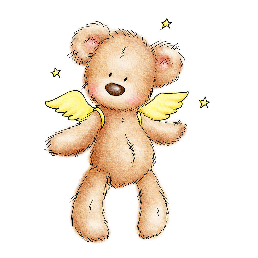 899x900 Cute Baby Bear Drawing Teddy Bear With Wings Drawing