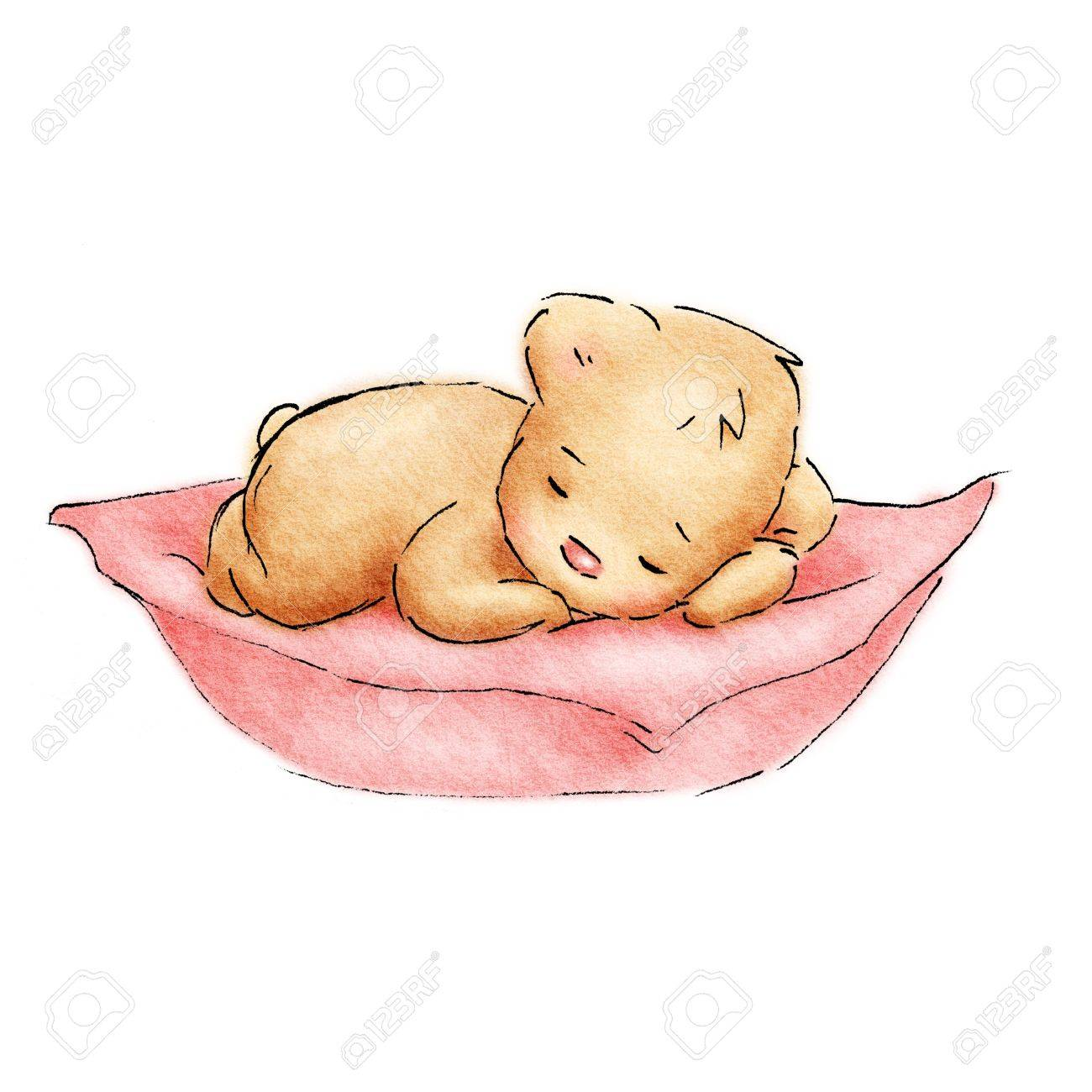 1300x1300 Sleeping Baby Bear Stock Photo, Picture And Royalty Free Image