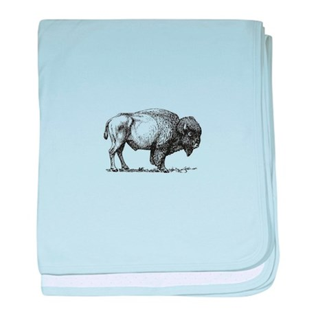 460x460 Buffalo Drawing Baby Blankets Personalized Baby Blanket Designs