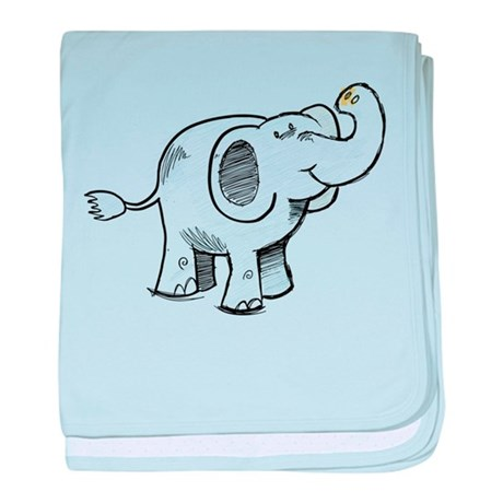 460x460 Cute Elephant Drawing Baby Blankets Personalized Baby Blanket