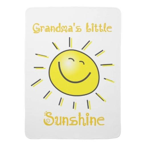 512x512 Grandma's Little Sunshine Cute Kids Quote Sun Baby Blanket