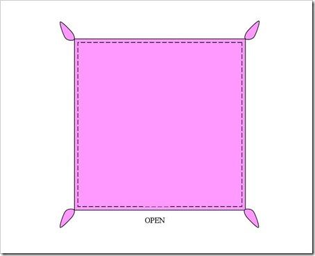 454x369 Sew Stormy Self Binding Baby Blanket Tutorial