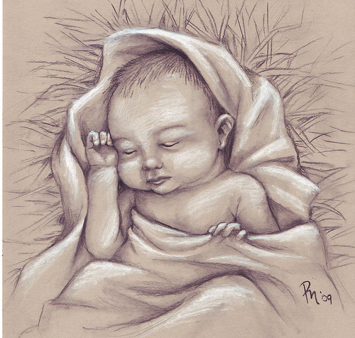 500x476 Drawing Of Baby Jesus Baby Jesus Mine Baby Jesus