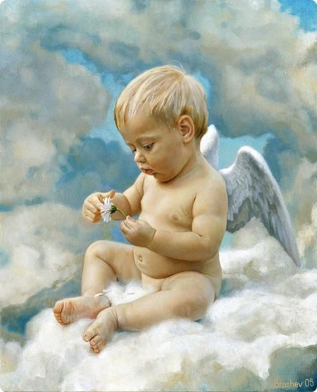 650x804 20 Beautiful Baby Oil Paintings For Your Inspiration
