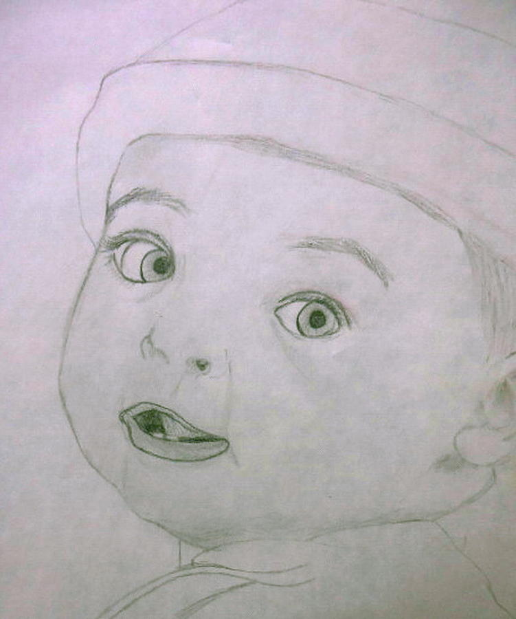 751x900 Baby Boy Drawing By G Marie
