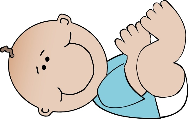 600x379 Baby Boy Lying Clip Art Free Vector In Open Office Drawing Svg