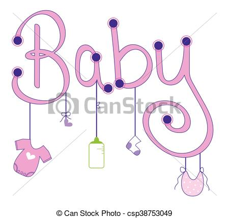 450x428 Baby Girl Clothes Line Eps Vector