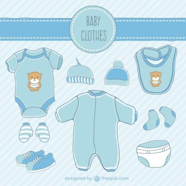 626x626 Baby Clothes Drawing. Freepik