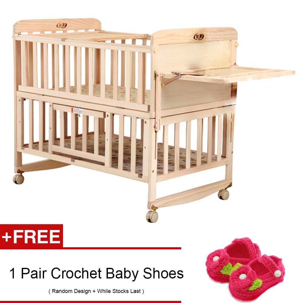 1000x1000 Arche Baby Cot Bed Earthy Multi Function Cradle Bed Table Drawing