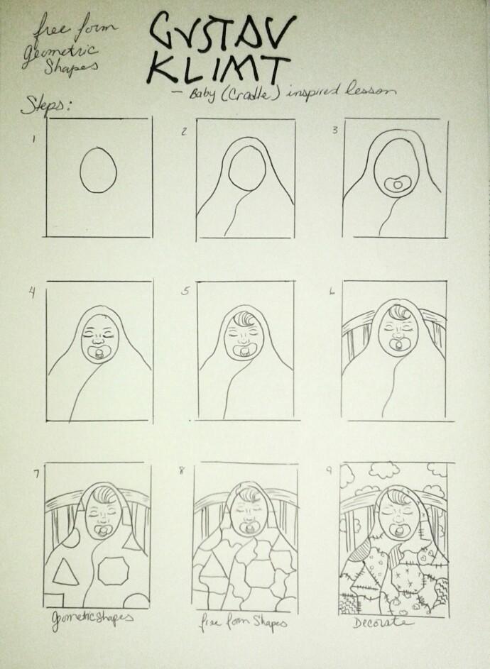 690x943 Gustav Klimt Baby, Cradle Inspired Lesson Klimt And Art Nouvaeu