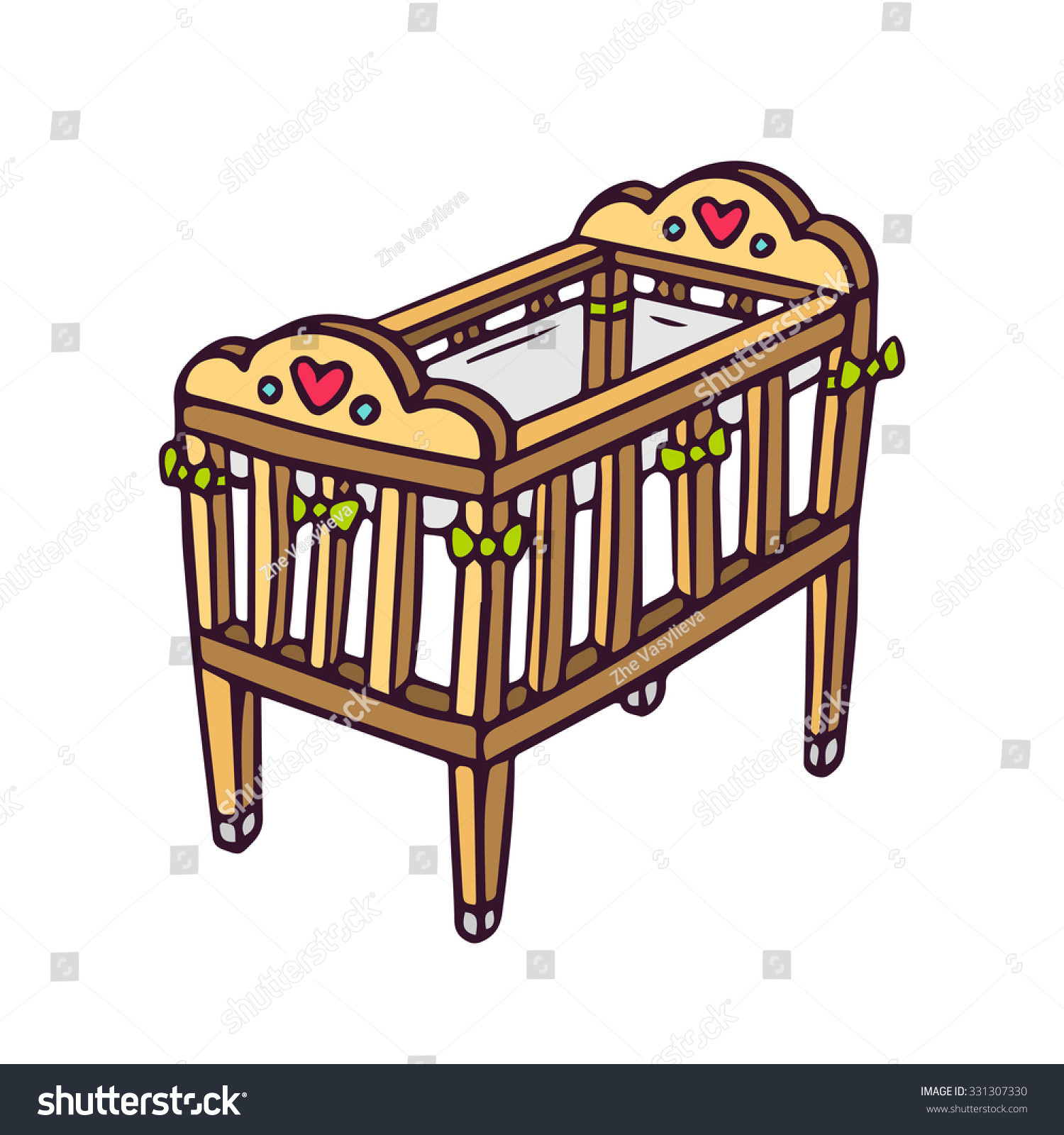 1500x1600 The Best Baby Crib Drawing Home Design Drawings Kaoaz