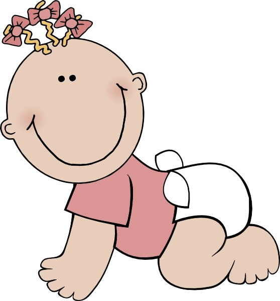 558x599 Baby Girl Crawling Clip Art Free Vector In Open Office Drawing Svg