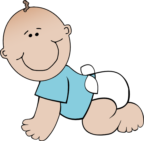 600x588 Cartoon Baby Boy Baby Boy Crawling Clip Art