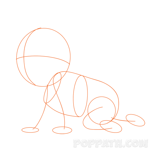 500x500 How To Draw A Baby Crawling Pop Path