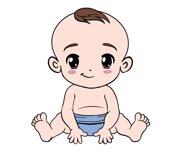678x600 How To Draw A Baby In A Few Easy Steps Easy Drawing Guides