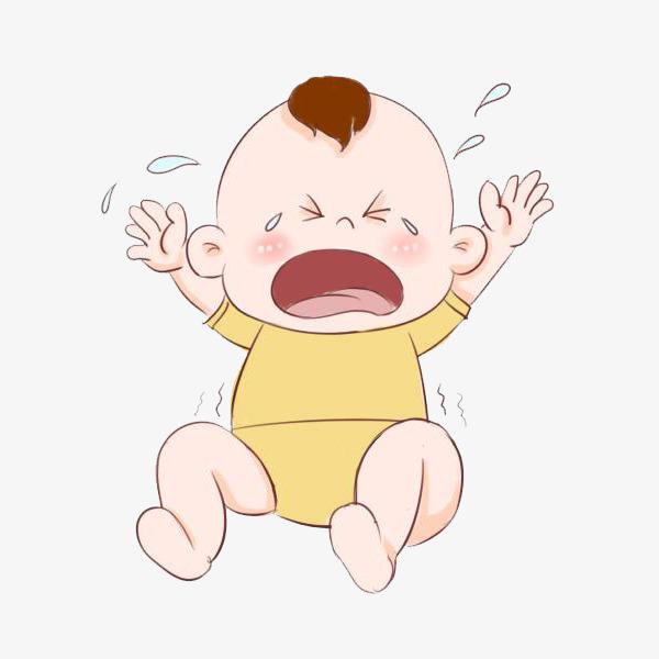 600x600 Cartoon Baby Crying, Baby Crying, Baby, Crying Png Image