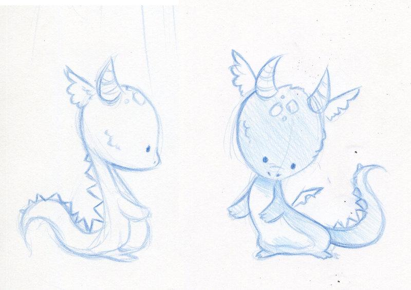 800x564 Baby Dragon Sketches By Danieru Chan On DeviantArt
