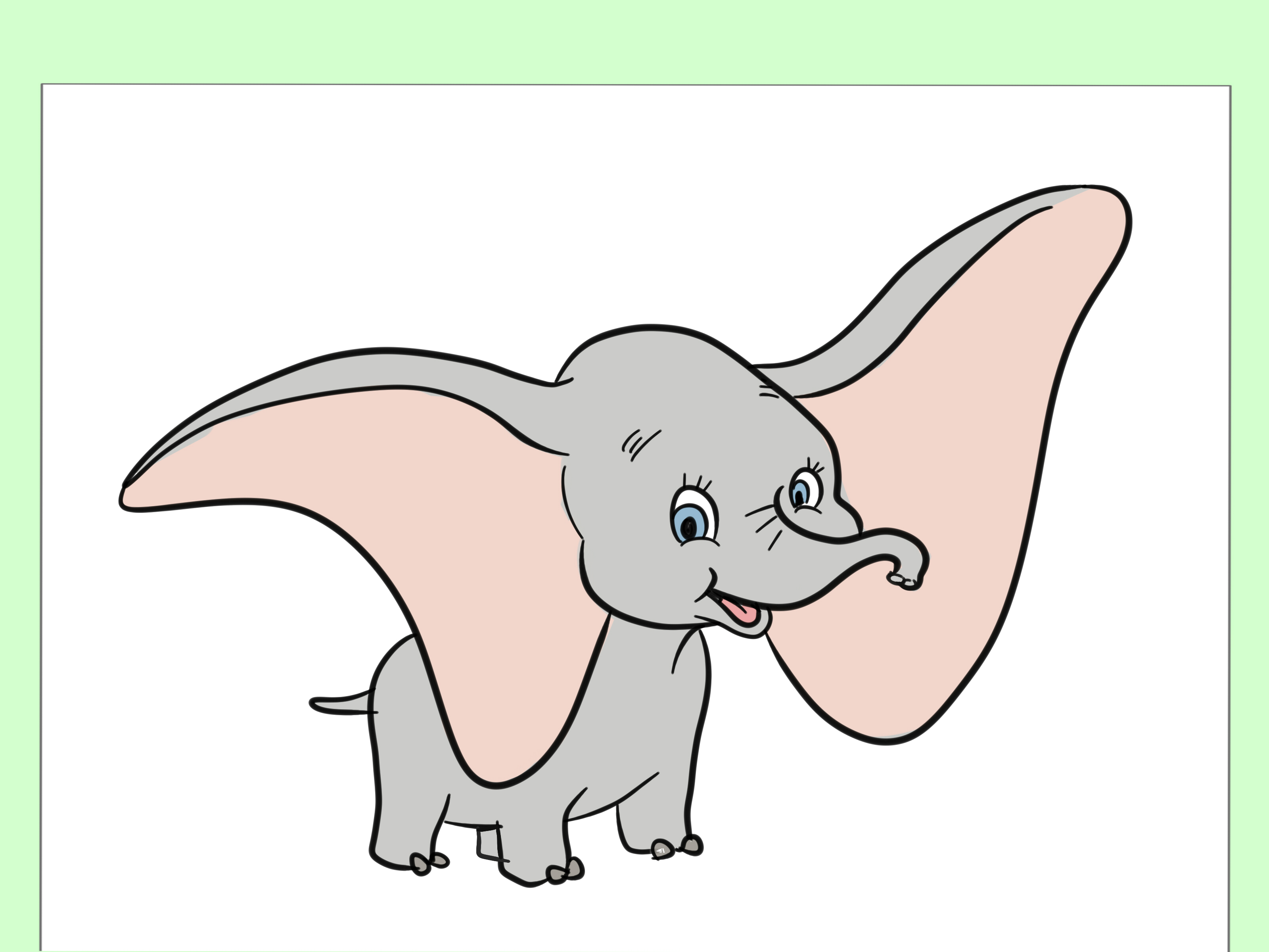 3200x2400 How To Draw Dumbo 6 Steps (With Pictures)