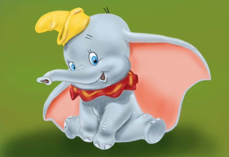 800x551 Learn How To Draw Dumbo Elephant From Dumbo (Dumbo) Step By Step