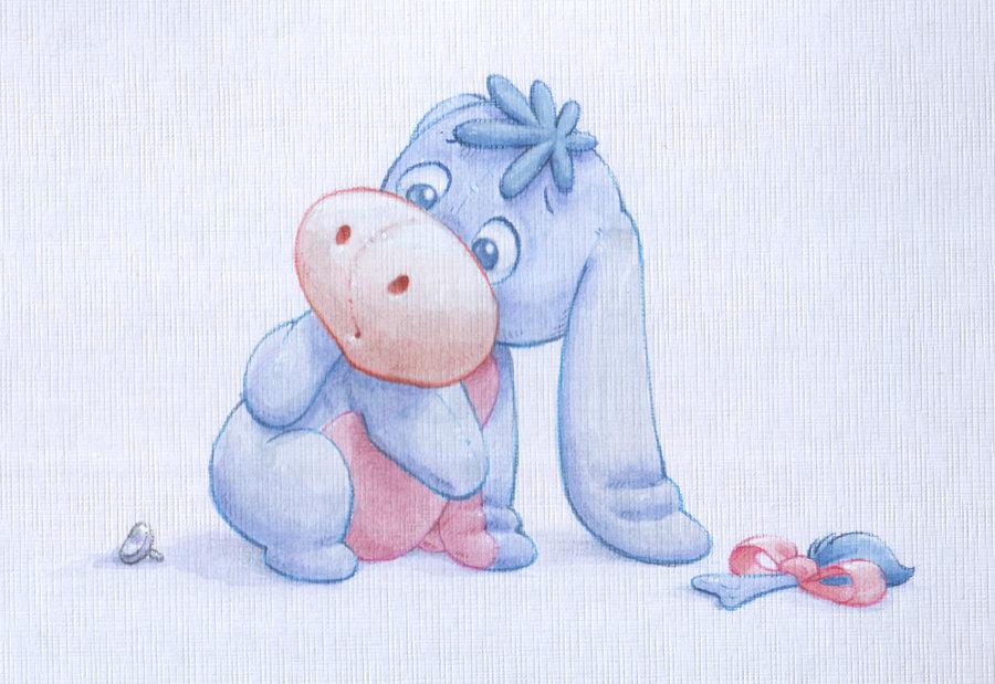 900x619 Baby Eeyore Watercolour By Shanemadeart