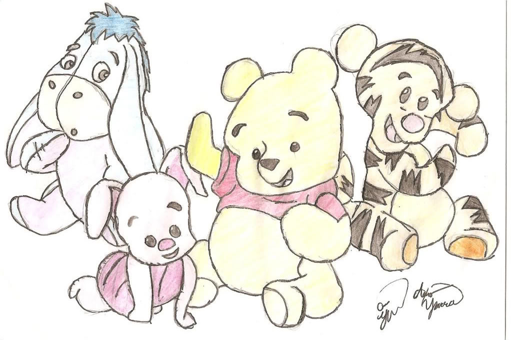 1022x681 Baby Pooh Images Pooh Drawings Hd Wallpaper And Background Photos